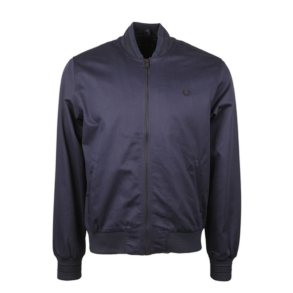 Fred Perry Mens Blue Tramline Tipped Bomber Jacket main image