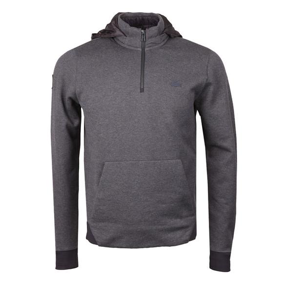Lacoste Mens Grey SH9612 Hooded Sweat main image