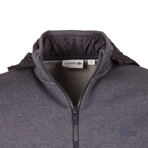 Lacoste Mens Grey SH9612 Hooded Sweat main image