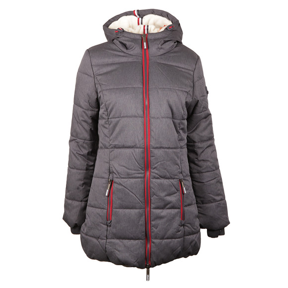 Superdry Womens Blue Tall Sports Puffer main image