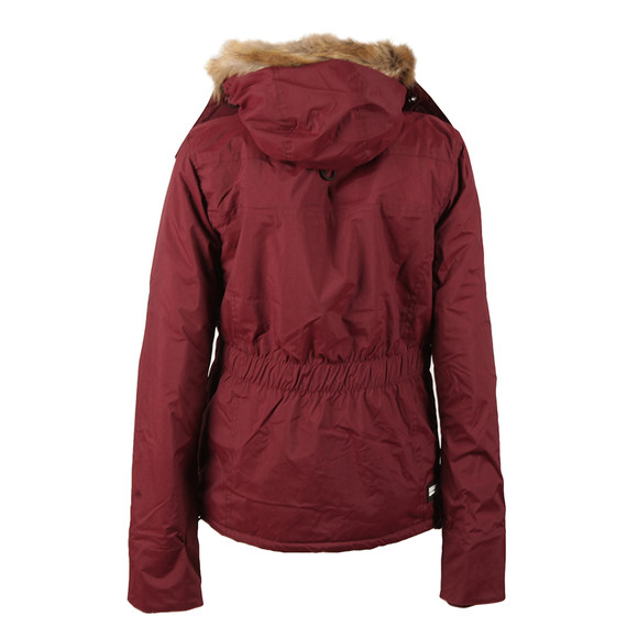 Superdry Womens Purple Hooded Fur Sherpa Wind Attacker main image
