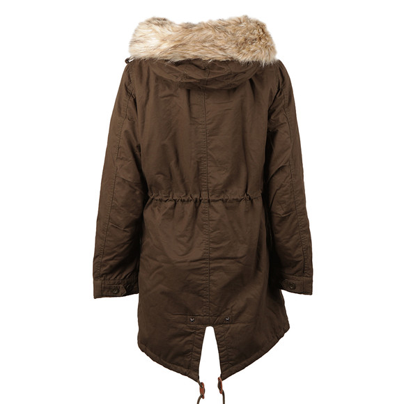 Superdry Womens Green Borderlands Fur Lined Parka main image
