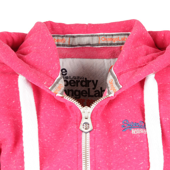Superdry Womens Pink Orange Label Primary Zip Hoody main image