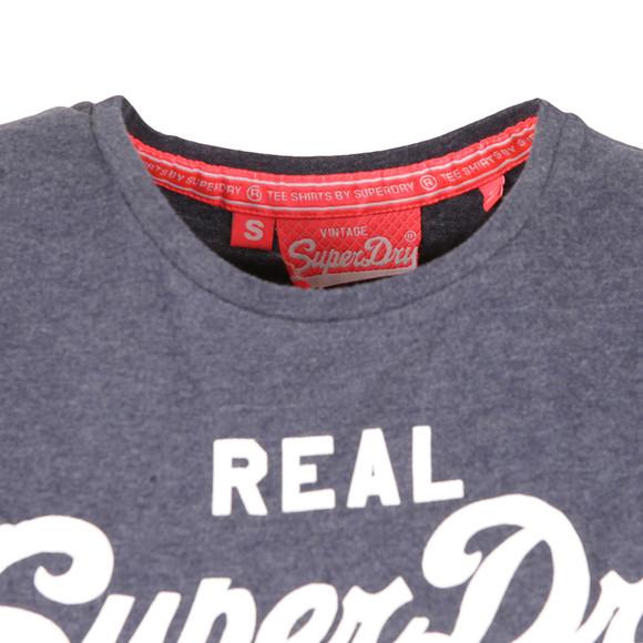 Superdry Womens Blue Vintage Logo Sequin T Shirt main image