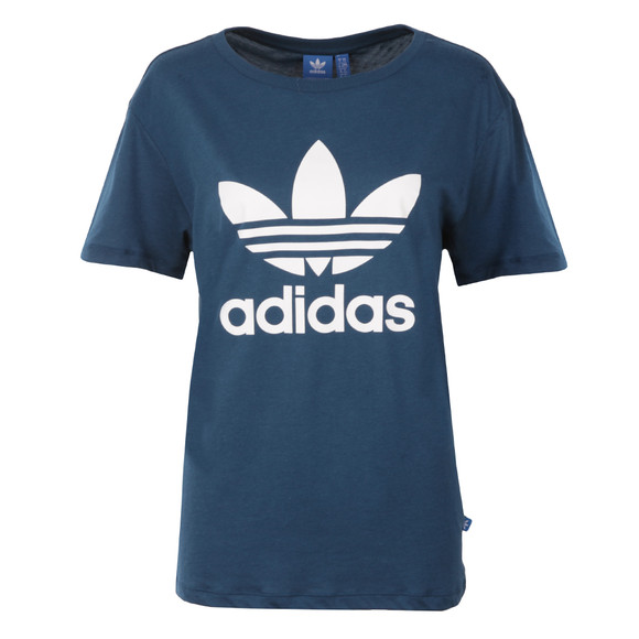 Adidas Originals Womens Blue BF Trefoil T Shirt main image