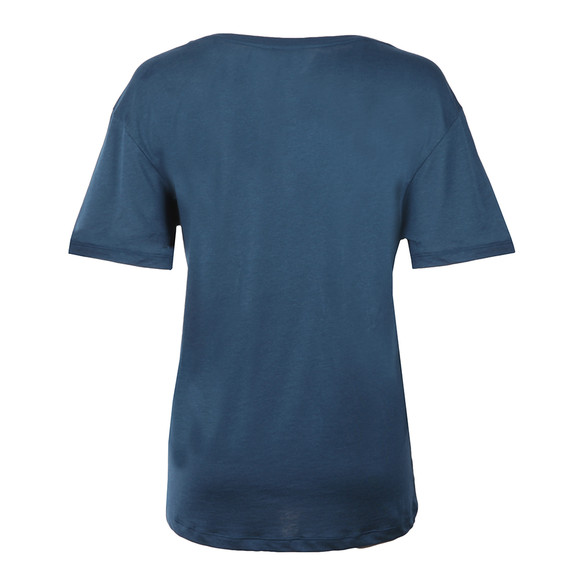 Adidas Originals Womens Blue BF Trefoil T Shirt main image
