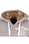 Superdry Womens Grey Fur Lined Applique Hoody