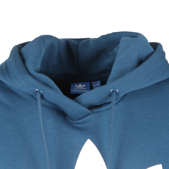 Adidas Originals Womens Blue Trefoil Logo Hoodie main image