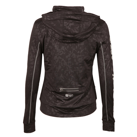 Superdry Womens Black Core Gym Zip Hoody main image