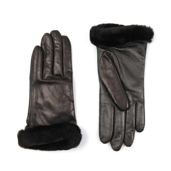 Ugg Womens Black Classic Smart Leather Glove main image