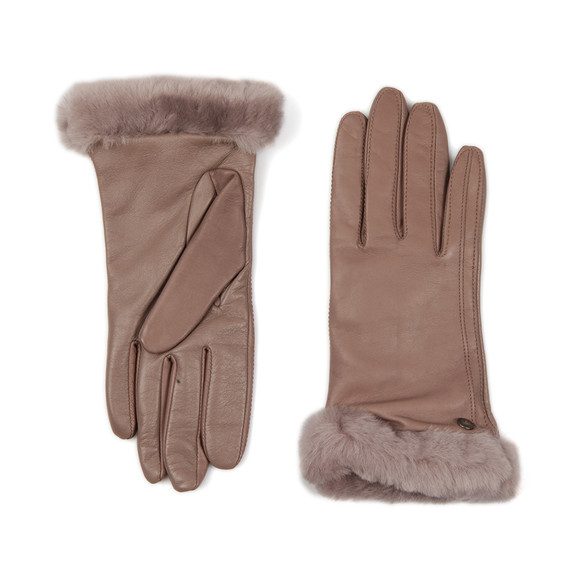 Ugg Womens Grey Classic Smart Leather Glove main image