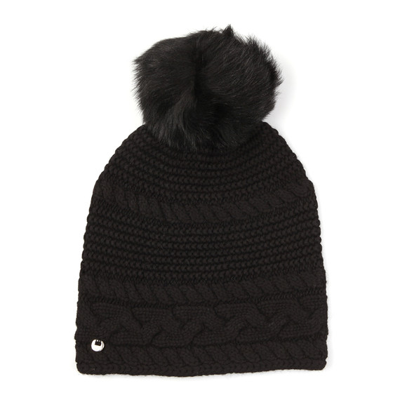 Ugg Womens Black Cable Oversized Beanie main image
