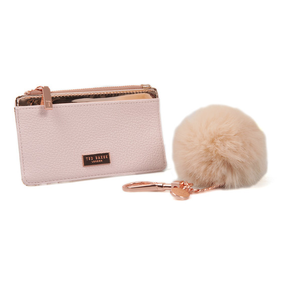 Ted Baker Womens Pink Deenaa Card Purse with Keyring Giftset main image