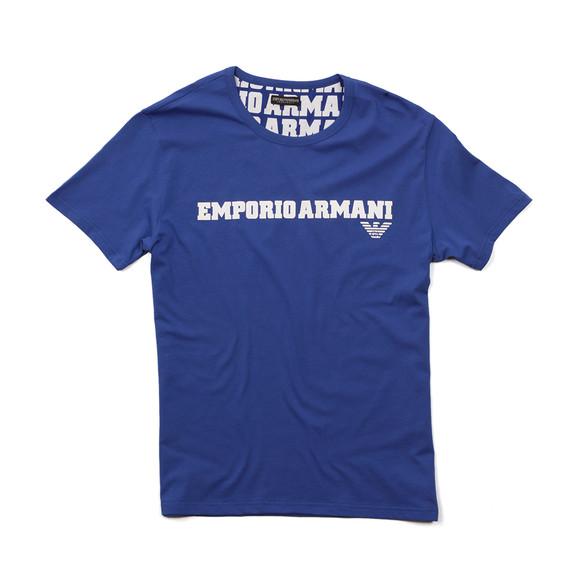 Emporio Armani Mens Blue Large Chest Logo TShirt main image