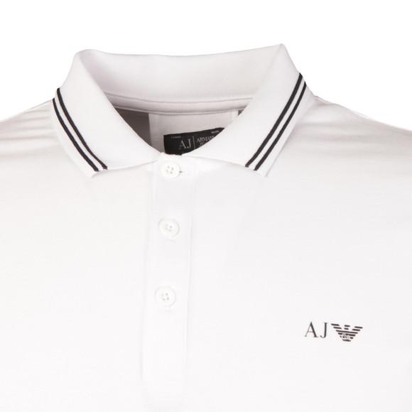 Armani Jeans Mens White Tipped Polo Shirt main image