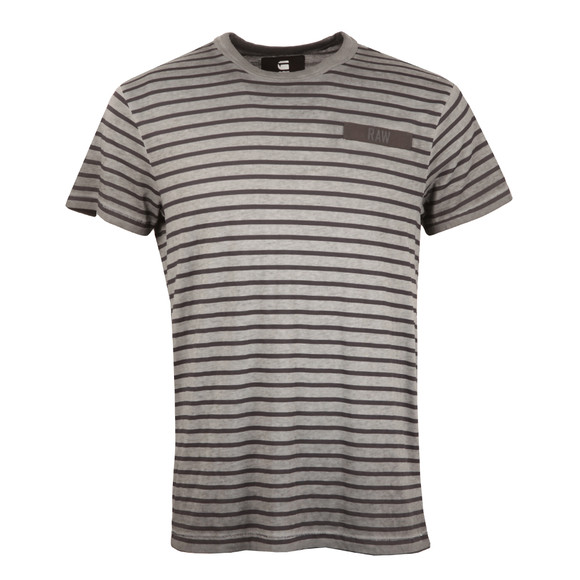 G-Star Mens Grey Rancis Stripe Tee main image