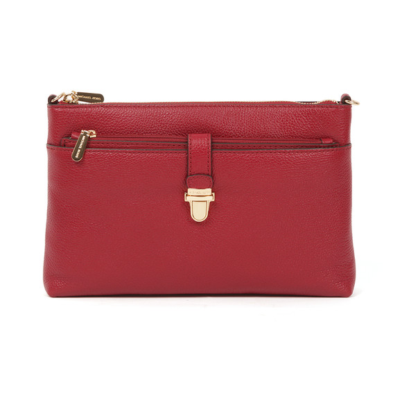 Michael Kors Womens Red Mercer Large Snap Pocket Crossbody Bag main image