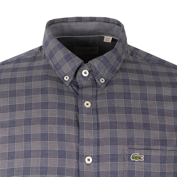 Lacoste Mens Blue L/S CH9904 Check Shirt main image