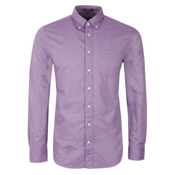Gant Mens Purple L/S Oxford Shirt main image