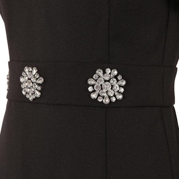 Michael Kors Womens Black Brooch Detail Dress main image