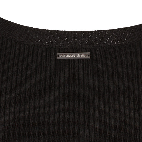 Michael Kors Womens Black Boatneck Bell Sleeve Jumper main image