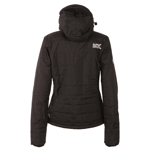 Superdry Womens Black Hooded Sherpa Quilted Windcheater main image