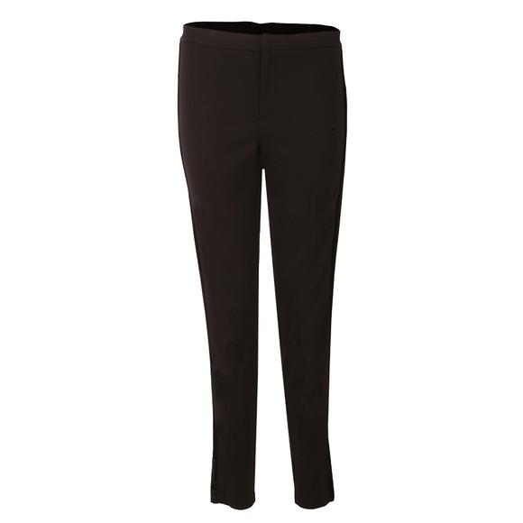 Michael Kors Womens Black Velvet Side Stripe Trouser main image