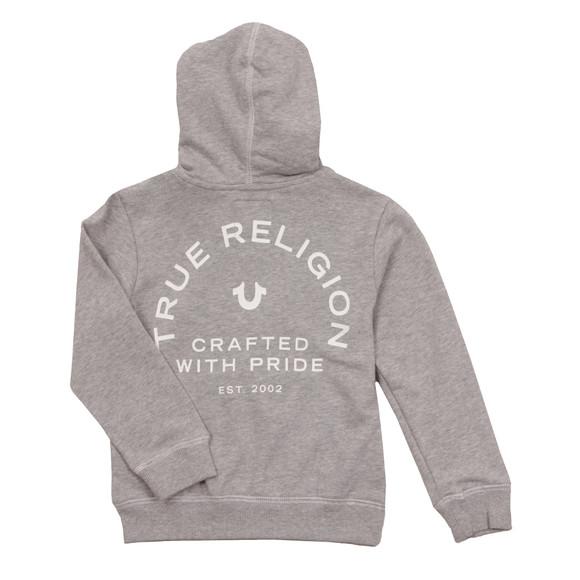 True Religion Boys Grey Horseshoe Logo Hoody main image