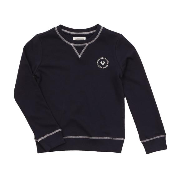 True Religion Boys Blue Logo Crew Sweatshirt main image