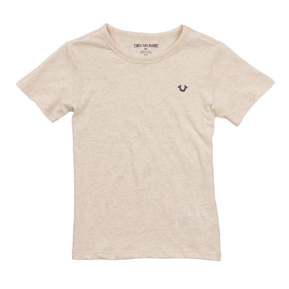 True Religion Boys Beige Branded Logo T Shirt main image