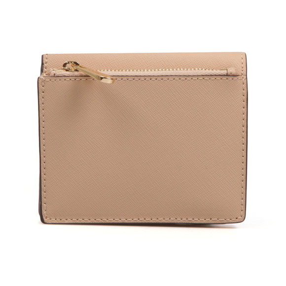 Michael Kors Womens Beige Jet Set Travel Saffiano Leather Card Case main image