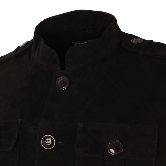 Pretty Green Mens Black Suede Lennon Jacket main image