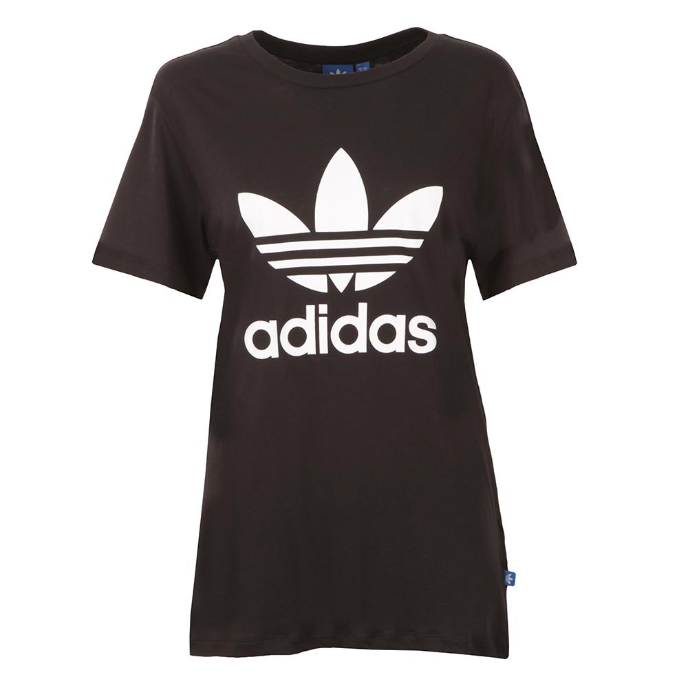 c19b26f3a8417 adidas Originals Womens Black BF Trefoil T Shirt
