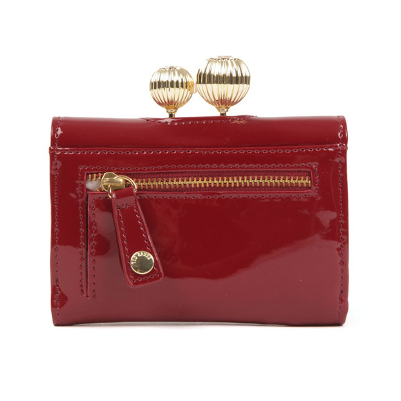 Ted Baker Womens Red Julissa Etched Bobble Patent Small Purse main image