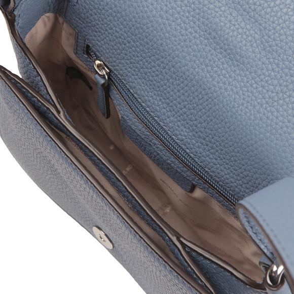 Michael Kors Womens Blue Maxine Mid Saddle Bag main image