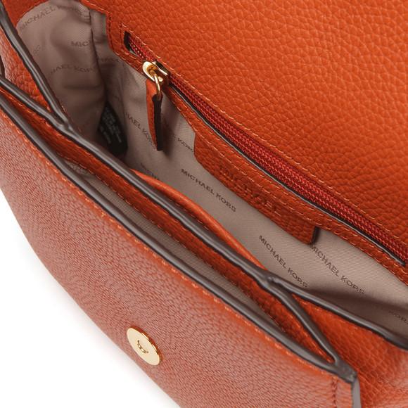 Michael Kors Womens Orange Maxine Mid Saddle Bag main image