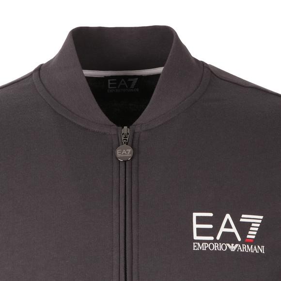 EA7 Emporio Armani Mens Grey Small Logo Full Zip Sweat main image