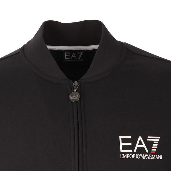 EA7 Emporio Armani Mens Blue Small Logo Full Zip Sweat main image