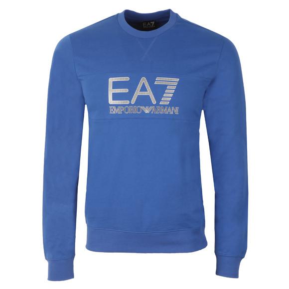 EA7 Emporio Armani Mens Blue Large Printed Logo Sweatshirt main image
