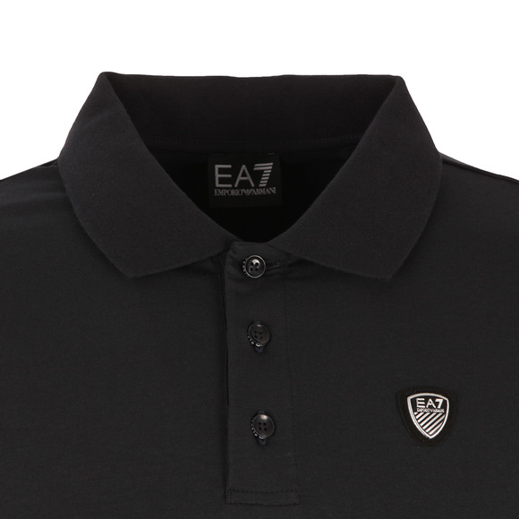 EA7 Emporio Armani Mens Blue Small Shield Logo Polo Shirt main image