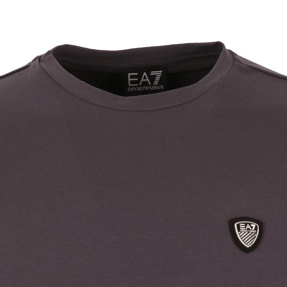 EA7 Emporio Armani Mens Grey Small Shield Long Sleeve T Shirt main image