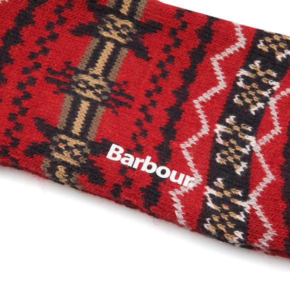 Barbour Lifestyle Mens Red Castleside Sock main image