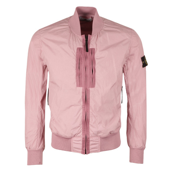 Stone Island Mens Pink Garment Dyed Crinkle Reps Bomber main image