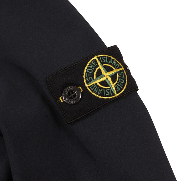 Stone Island Junior  Boys Blue Light Hooded Soft Shell Jacket main image