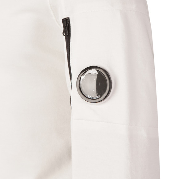 CP Company Mens White Viewfinder Sleeve Overhead Hoody main image