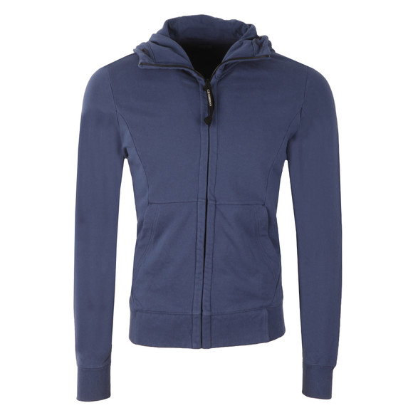 CP Company Mens Blue Full Zip Goggle Hoody main image