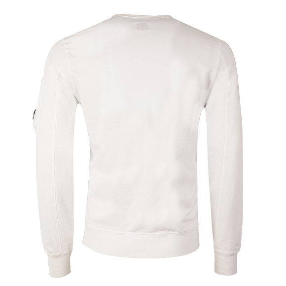 CP Company Mens White Viewfinder Sleeve Crew Sweat main image