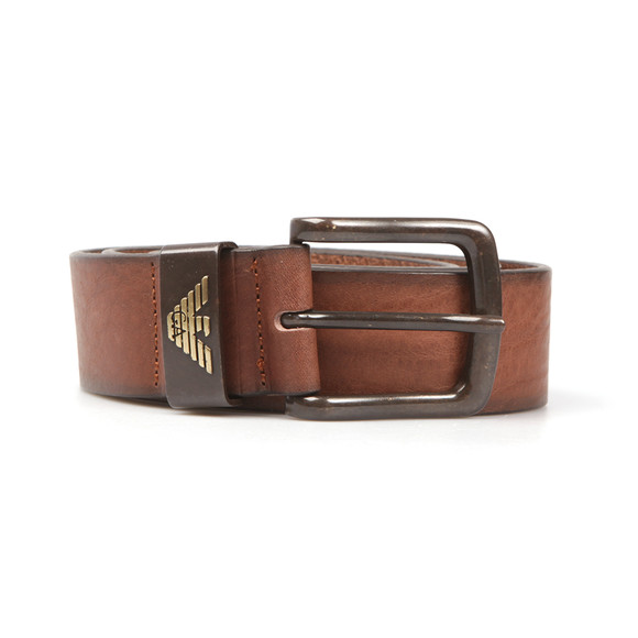 Armani Jeans Mens Brown Small Logo Belt main image