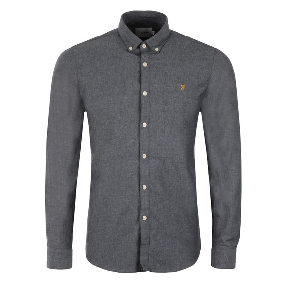 Farah Mens Blue Steen Slim Shirt main image