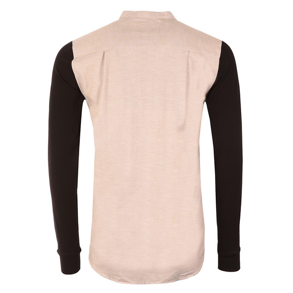 Sik Silk Mens Grey Jersey Long Sleeve Shirt with Contrast Sleeves main image
